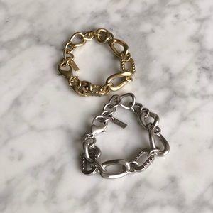 Jewelmint gold and silver bracelet